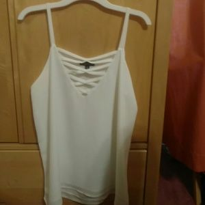 White tank top with lattice chest